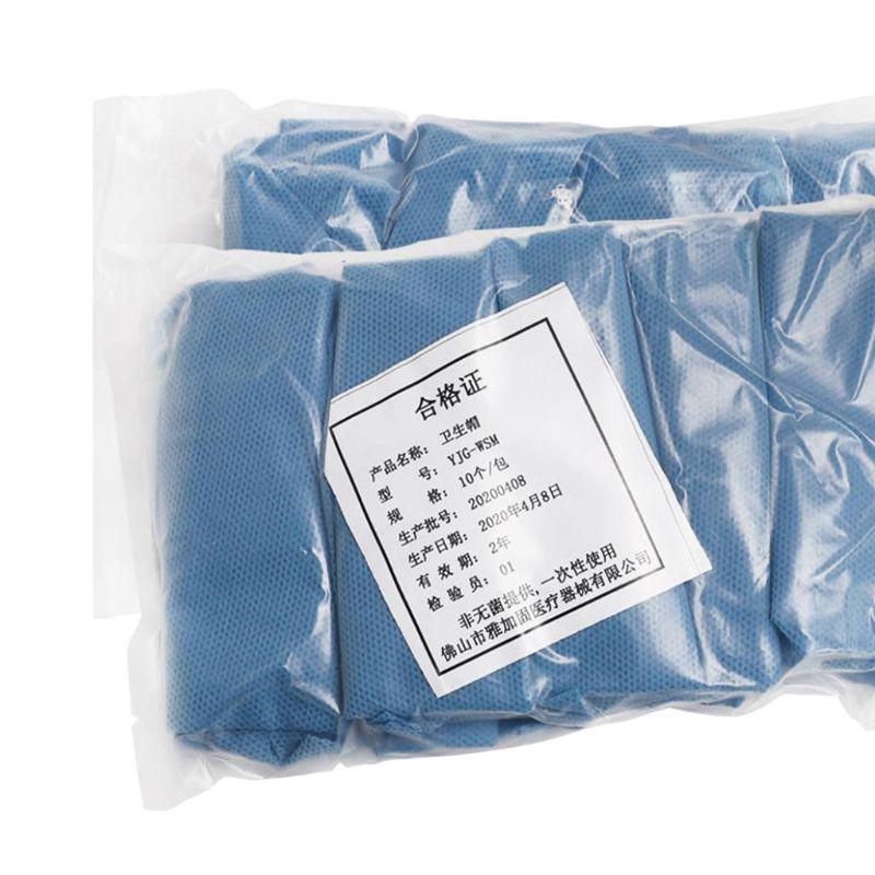 10 pces nao tecido tampao bouffant descartavel impermeavel a prova de poeira elastico