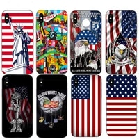 usa flag the statue of liberty bald eagle soft phone case for iphone 11 pro max xs se 7 8 6 6s plus x 5s 10 xr 12 mini tpu shell