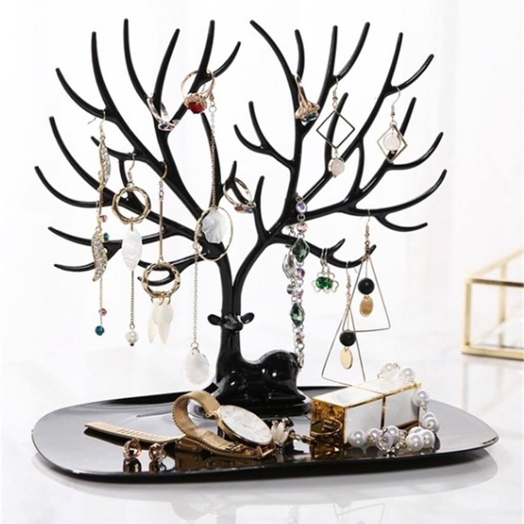Titular jóias organizador pulseira corrente relógio jóias organizador exibição brinco colar titular anel de exibição suporte ja3
