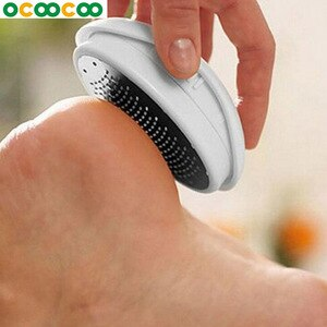 1pcs Pedicure Foot Care Tool Foot File Exfoliating Callus CuticleRemover Home Use Stainless Steel  Massage Care Oval Egg Shape