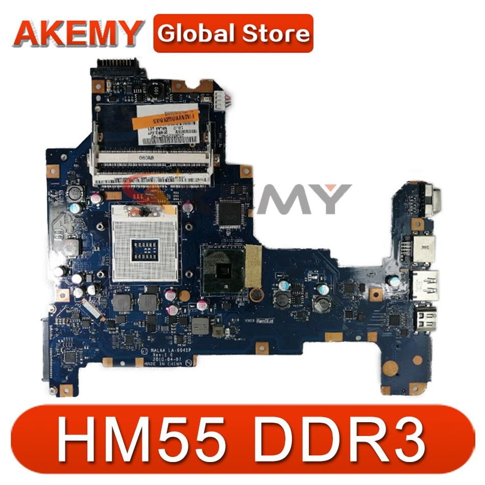 AKEMY K000103760 NALAA LA-6041P اللوحة الأم للكمبيوتر المحمول توشيبا L670 L675 REV 1.0 HM55 DDR3 اللوحة الرئيسية مختبرة بالكامل