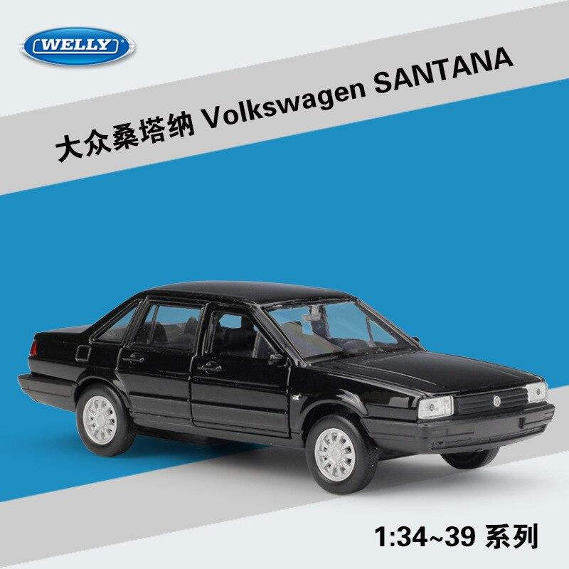Welly 136 volkswagen santana clássico liga modelo de carro veículos modelo de metal com caixa para collectibles presente