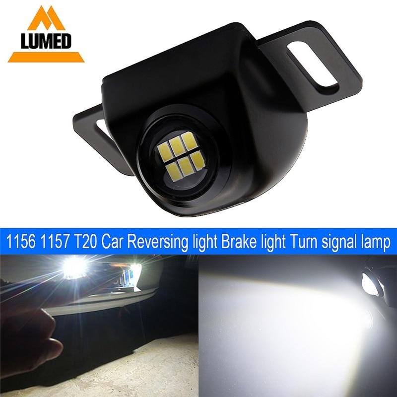 1 Uds bombilla LED de coche ojo de águila 6 led 3020 smd luces Auto lámpara pícaro Luz de marcha atrás DC 12V