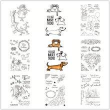 Los animales transparente Klare stempel und schneiden stirbt de Silikon Dichtungen Scrapbooking/Karte Der/Gran Decoración de