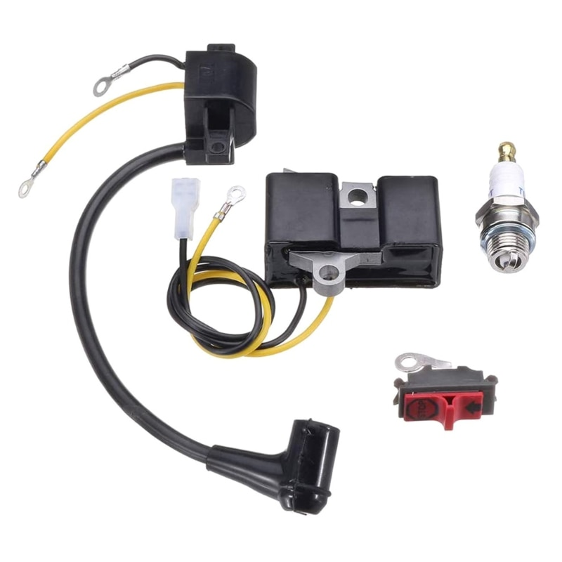 Ignition Coil Module Kits 4pcs Ignition Coil Module Kits Compatible for Husqvarne 61 66 162 266 Chainsaw 501516201