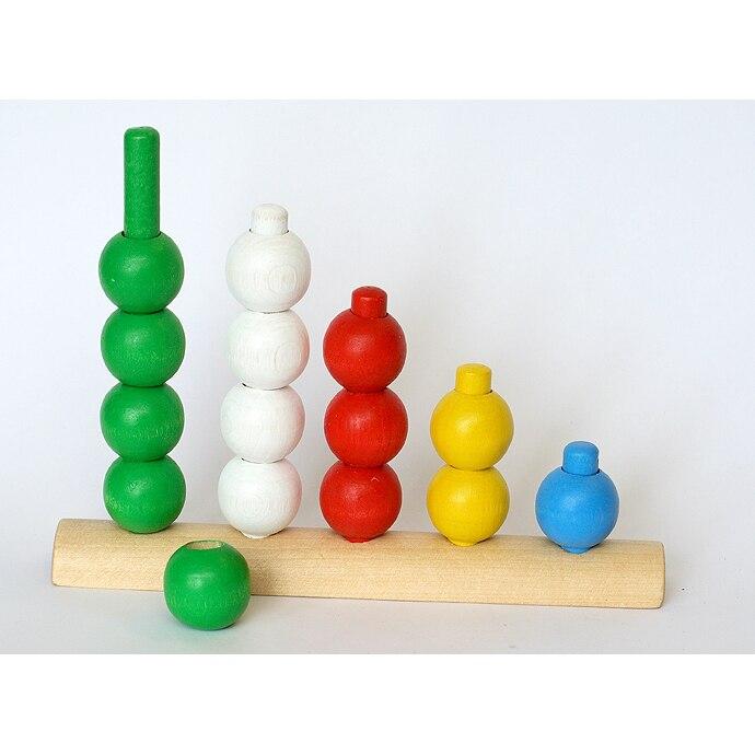 Деревянные счетные шары, развивающий набор для детей