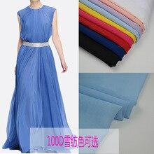 Robe de mariée en mousseline de soie   Tissu solide, couleur bonbon, doublure jupe en tissu, tulle matériel 100D, robe de mariée, bricolage