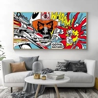 art roy lichtenstein abstract posters pop art canvas painting wall art pictures for living room big size no frame