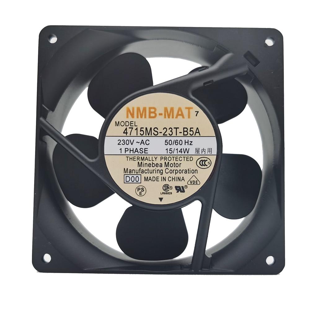 NEW NMB-MAT Minebea 4715MS-23T-B5A D00 12038 230V 12CM cooling fan Free shipping new nmb original 12038 24v 0 46a 4715kl 05t b40 120 120 38mm cooling fan