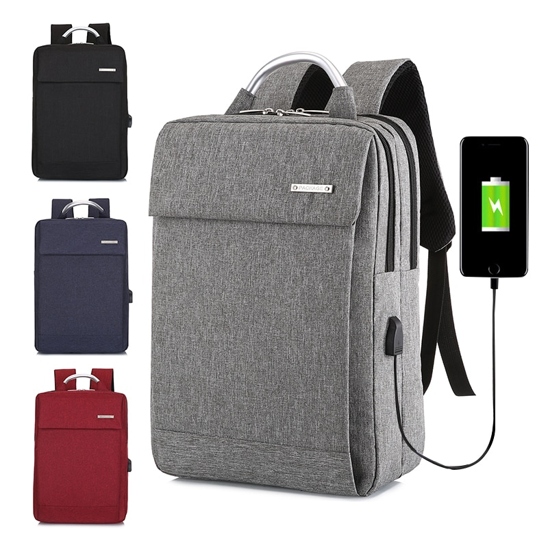 15.6 Inch Large Capacity Men's Laptop Backpack with USB Interface Outdoor Travel Backpack for Men Un