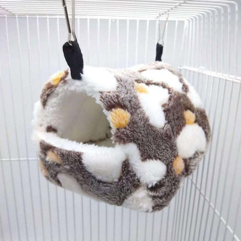 Милый маленький питомец Птица Попугай хомяк мягкое удобное гнездо плюшевое Висячие гамак Гнездо Дом спальная кровать теплое гнездо товары для животных