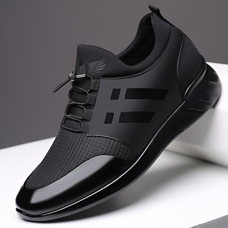 2020 الرجال أحذية رياضية جودة 6 سنتيمتر زيادة الأحذية البريطانية جديد تنفس الصيف أحذية رياضية كاجوال كبيرة الحجم مكتب أحذية الرجال