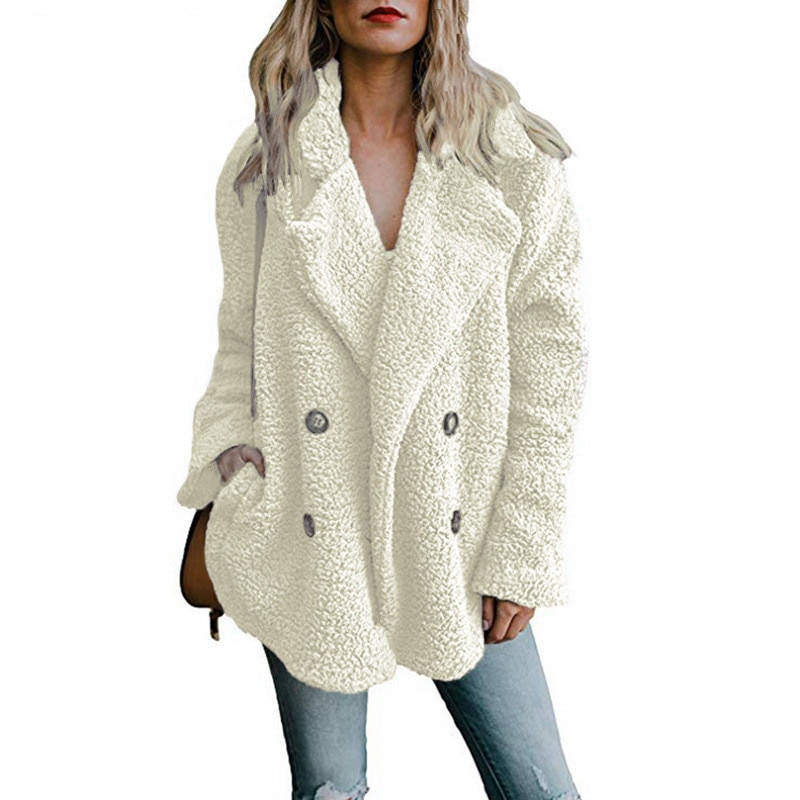 Пальто Тедди, женские пальто из искусственного меха, пушистые меховые куртки с длинным рукавом, зимняя теплая Женская куртка, женское повсе...