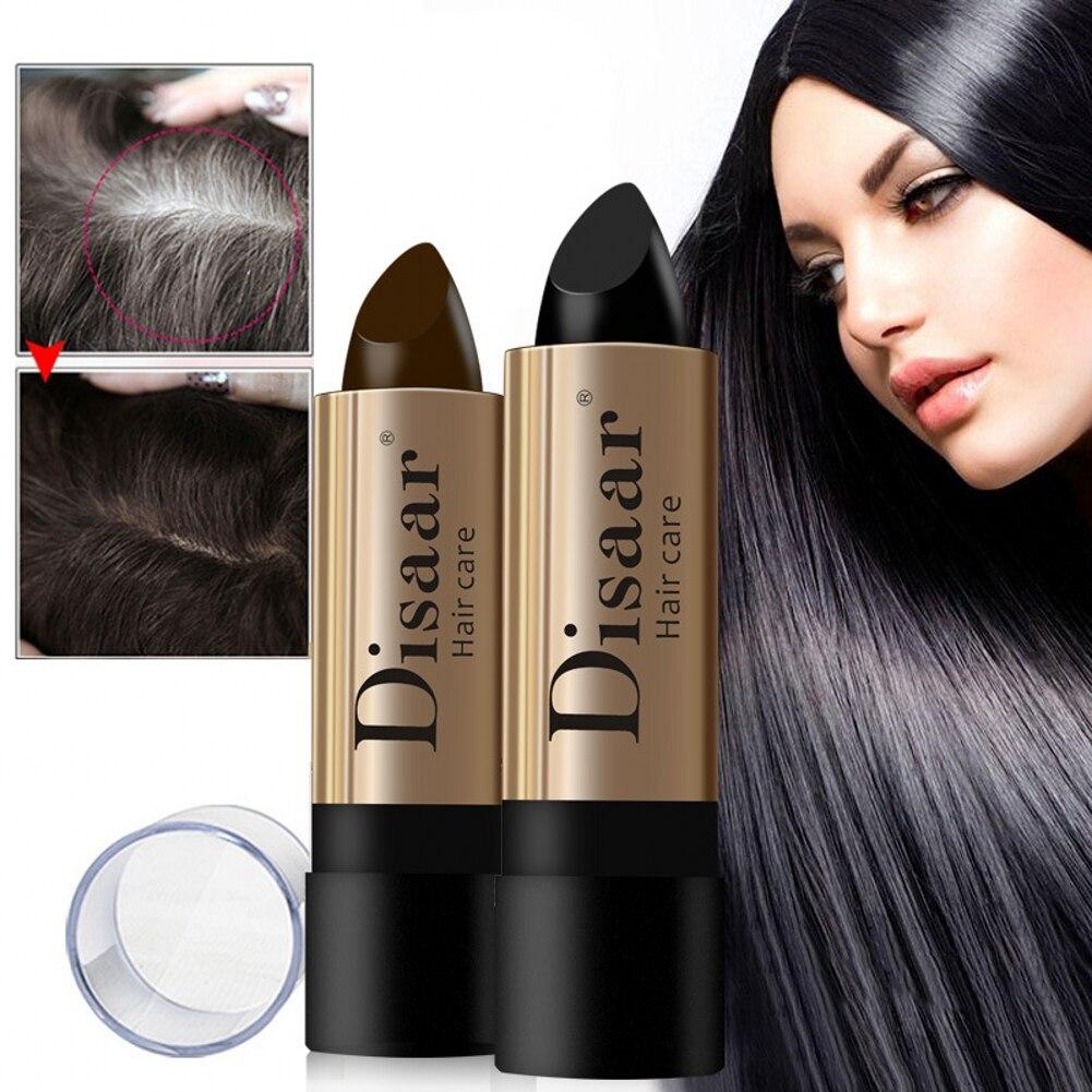 Краска для волос в форме губной помады, мгновенное покрытие седых корней, краска для волос, модифицирующий крем, Восковая краска для белых в...