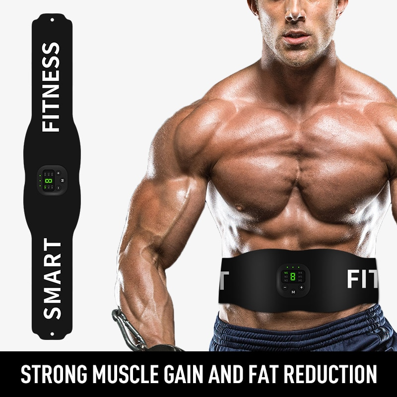 New Fitness Belt Lazy Home Sports Relax Digital Display Charging EMS Micro Current Fitness Muscle Abdominal Muscle Stick