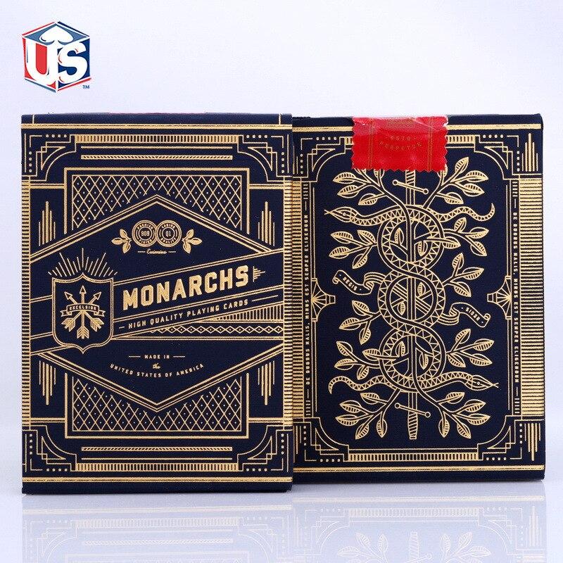1 Deck de Theory11 monarque cartes à jouer monarques Deck T11 Poker cartes magiques gros plan tours de magie pour magicien professionnel