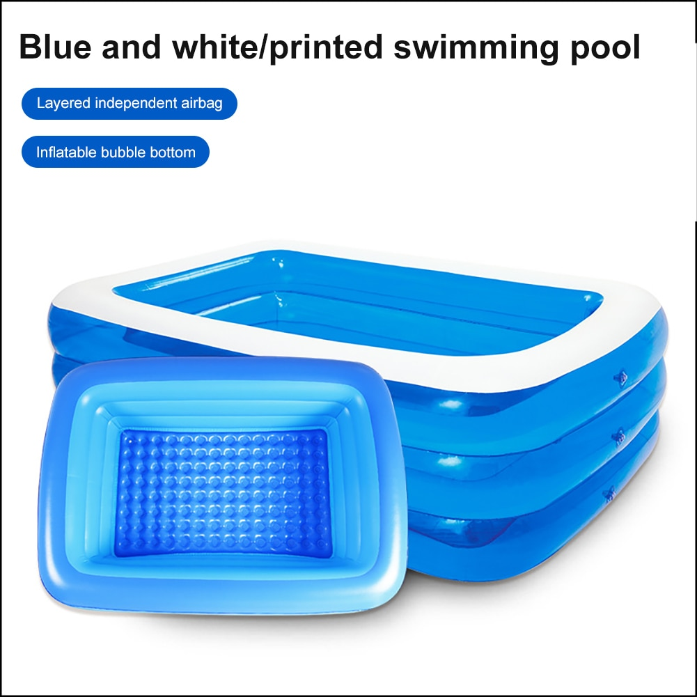 1.3m 3-storey Inflatable  Swimming Pool Portable Thicken PVC Outdoor Swimming Pool For Kids Indoor Inflatable Swimming Pool