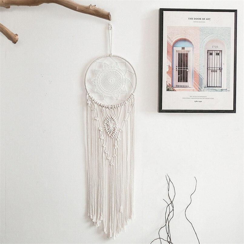 Tapiz colgante de pared de macramé nórdico, decoración de habitación, decoración de granja, tapiz hecho a mano, regalo de Navidad para mujer