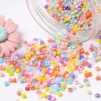 cream czech round spacer glass seed beads bulk jewelry hand diy for bags clothing necklaces and bracelets sewing accessories