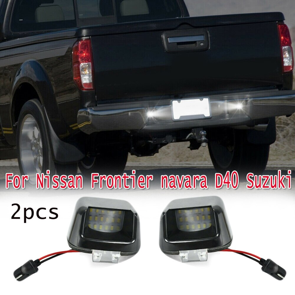 Luces LED para vehículos de coche, placas de luz, parachoques trasero para lámpara de placa de matrícula Nissan Frontier 2007 2019