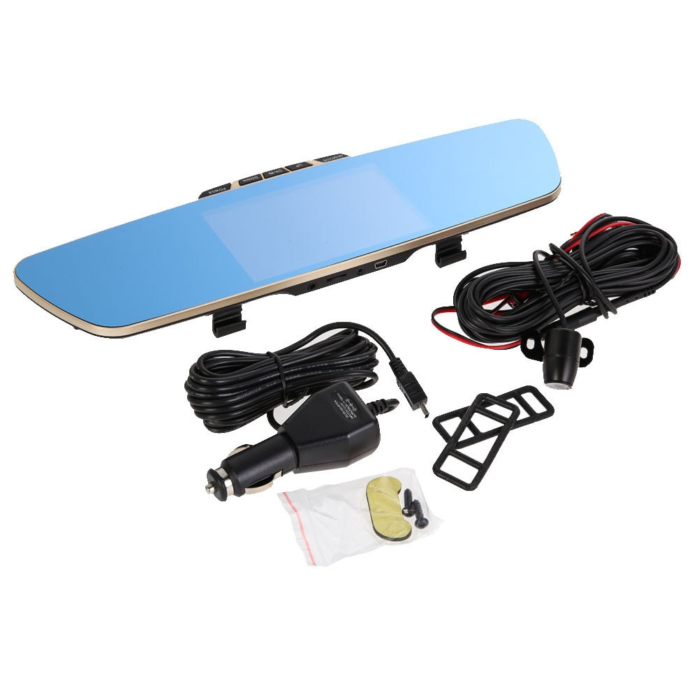 5.0 Inch Rearview Mirror Car Dvr Camera Hd 1080P Car Mirror Video Recorder with Rear View Camera Car