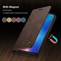 caseme for xiaomi mi9 mi9t retro magnetic wallet leather case for redmi note 8 luxury flip protective case k20 note 8 10 cc9 pro