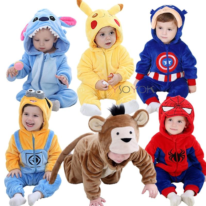 Baby rompers boy girl clothes new born baby costume jumpsuits Infant onesies winter stich pajamas roupas de bebe recem nascido