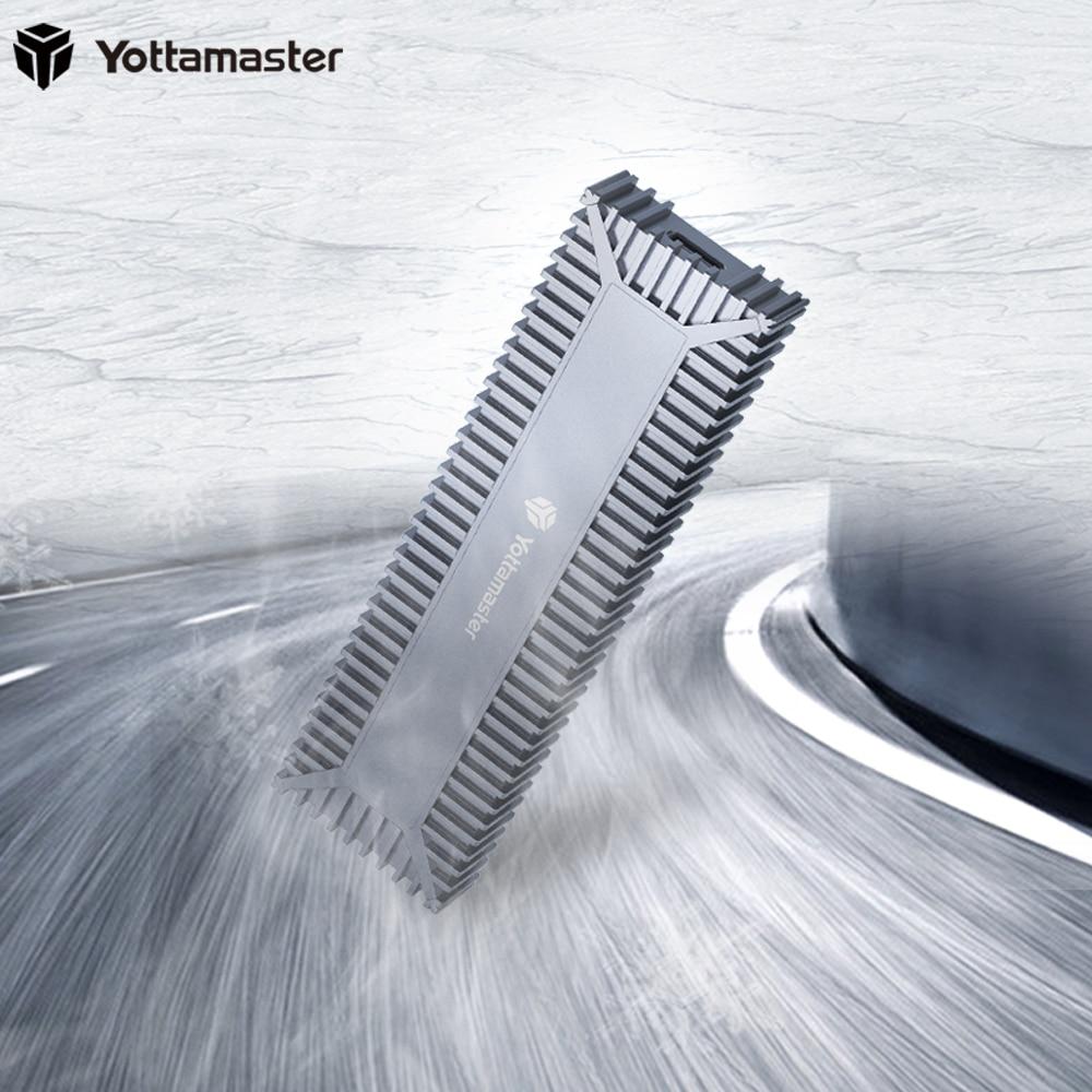 Yottamaster Aluminum M.2 NVMe SSD Enclosure Adapter USB 3.1 Gen 2 (10 Gbps) SSD External Enclosure for M.2 PCI-E NVMe SSD-[SO1]