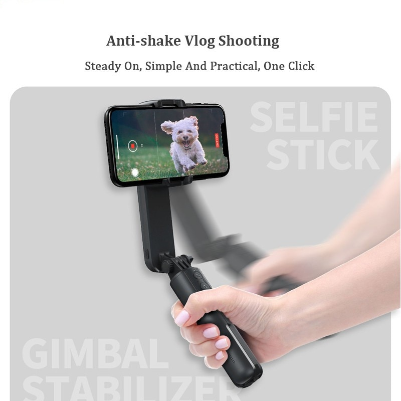 Gimbal Stabilizer Single Axis Stabilizer Bluetooth Selfie Stick Anti-shakeTripod With Led Fill Light For Iphone/Android/Huawei enlarge