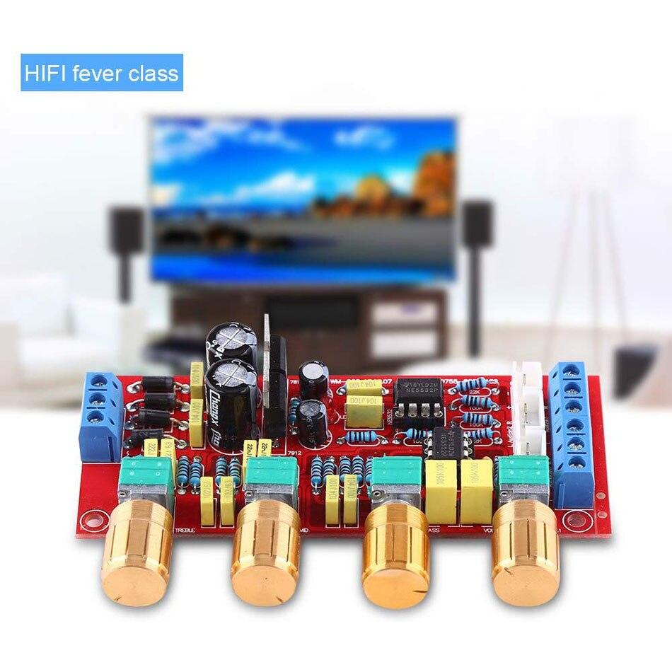 NE5532 OP AMP усилитель предусилитель объемная тональная плата управления EQ DIY KIT и