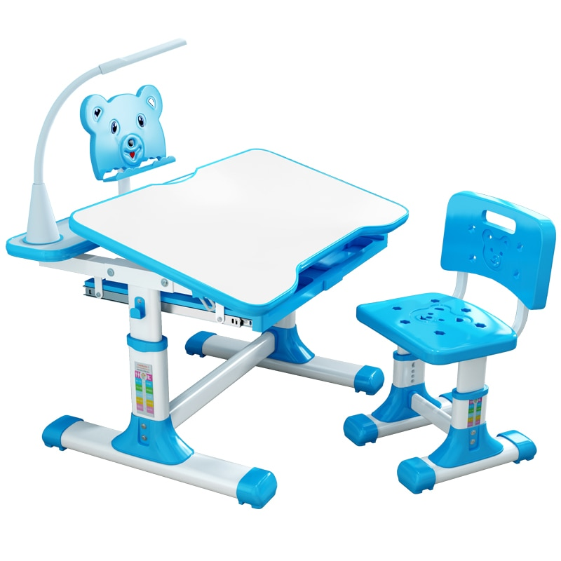 Children Desk and Chair Set Multifunctional Kids Study Table Ergonomic Student Adjustable Writing Child Desk Combination Desktop