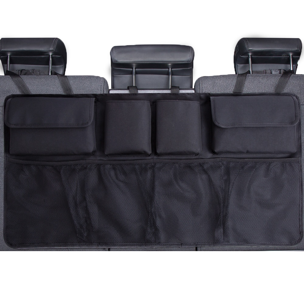 Car Trunk Organizer Adjustable Backseat Storage Bag Net High Capacity Multi-use Oxford Automobile Se