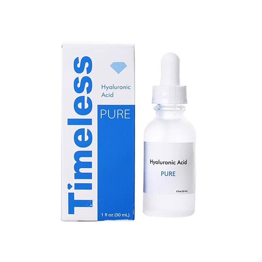 Hyaluronic Acid Serum 100% Pure Timeless Moisturizing Anti-Ageing Anti Wrinkle Whitening Face Serum Lifting Skin Care Essence