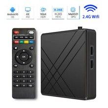 Android 10.0 TV BOX 4k 3D 2.4G Wifi TV Box 4GB RAM 32GB ROM Smart Tv Android Tv 4K Smart Tv Box Set