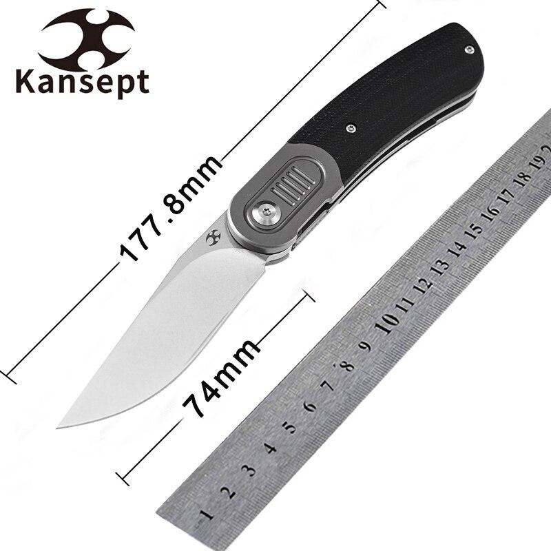 Kansept ريفيري K2025A1 سكين جيب 2.92 ''S35VN شفرة التيتانيوم و G10 مقبض سكين للفرد EDC تحمل ، الصيد التخييم
