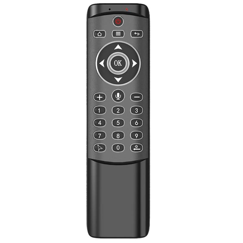 Gran oferta Control remoto hábil fabricación inalámbrico 2,4 GHz Air Mouse Control remoto de voz 24 teclas IR aprendizaje para TV Box