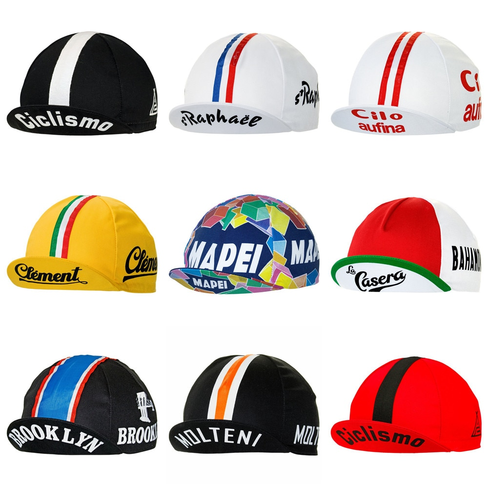 Retro cycling cap Men and women lightweight bicycle Headwear summer gorra ciclismo hombre Road bike cycling hat