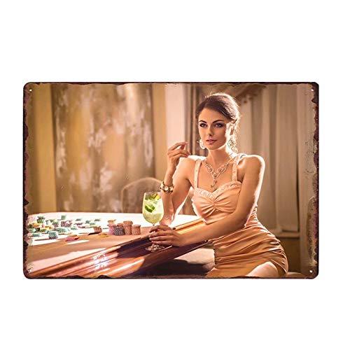 Казино покерная игра тема 8x12 дюймов Ретро винтажные металлические жестяные знаки бар пивной паб клуб картина искусство Искусство настенна...