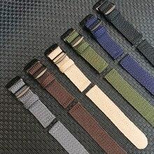 20mm 22mm Siyah Lacivert düz renk perlon dokuma naylon saat kayışı Bilezik kumaş dokuma saat kayışı Band Siyah Toka kemer