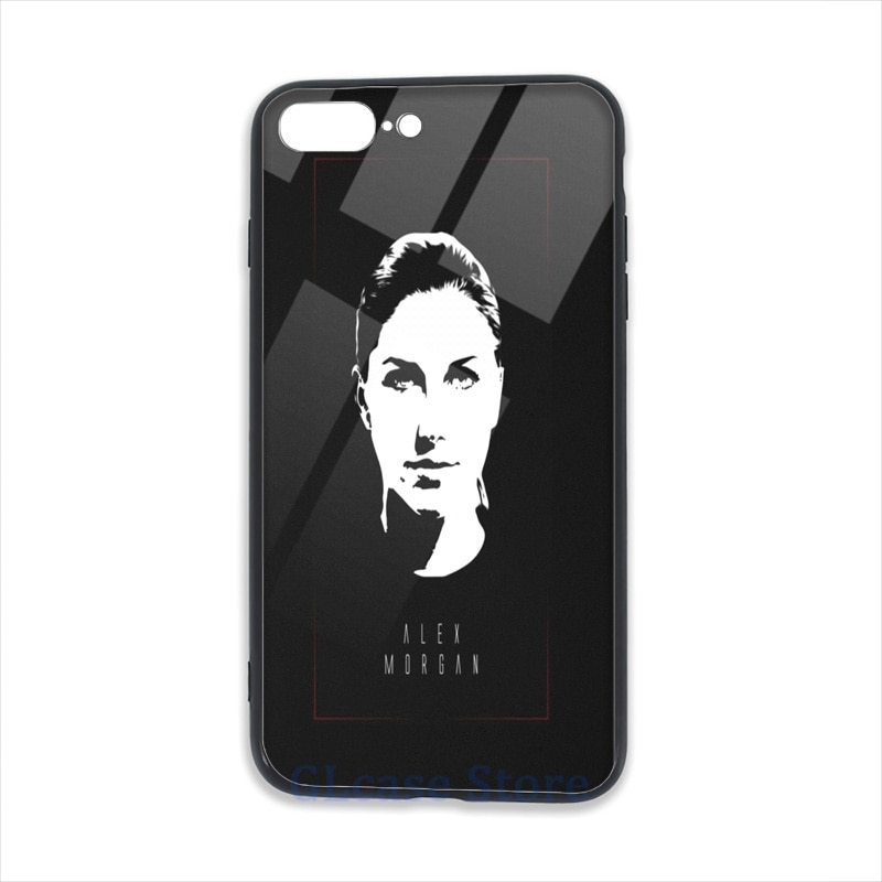 Alex Morgan arte teléfono caso para iPhone 11 Pro 2020 X XR XS Max 8 7 6 6s Plus 5s suave TPU funda trasera de vidrio de