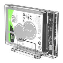 ORICO 2,5 zoll Transparent HDD Fall USB 3,1 Typ C zu SATA Externe Festplatte Gehäuse SSD Disk HDD Box mit Stand 2159C3-G2