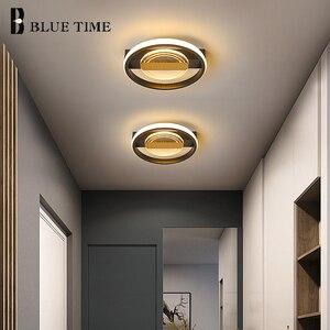 Modern LED Ceiling Lights for Bedroom Living Room Decor Aisle Corridor Lights Home Ceiling Lamps Indoor Lighting Fixtures Black