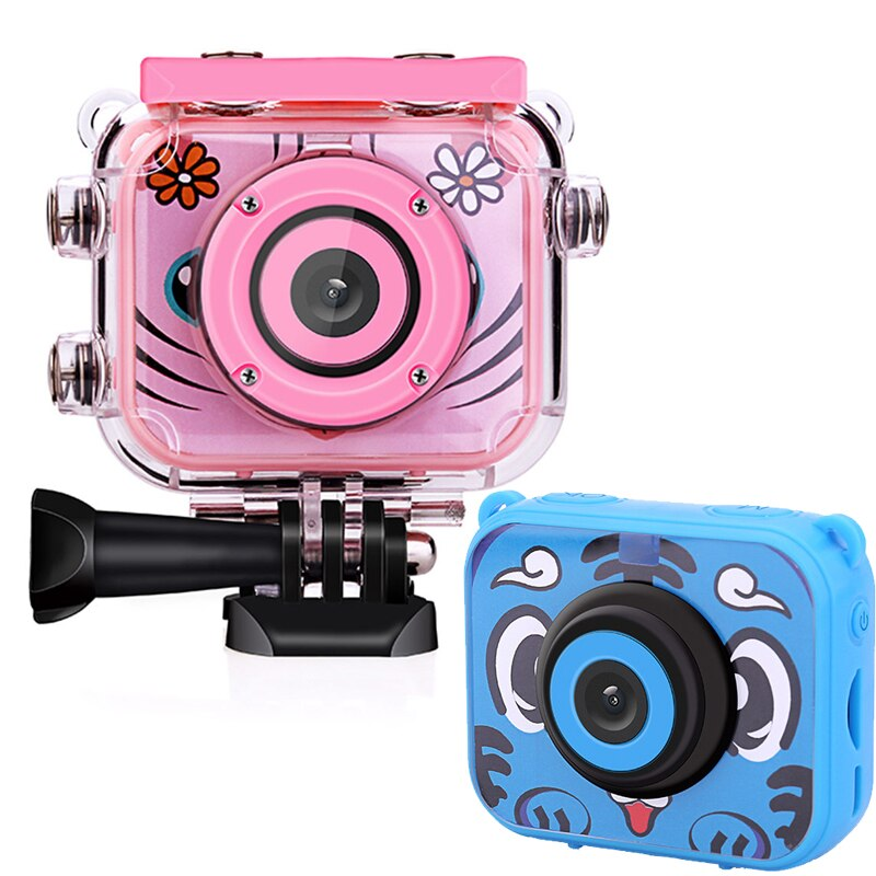 Newest Children Mini Camera 2.0 Inch LCD Screen Digital Video Photo Camera Waterproof 1080P Kids Camera Children Birthday Gift