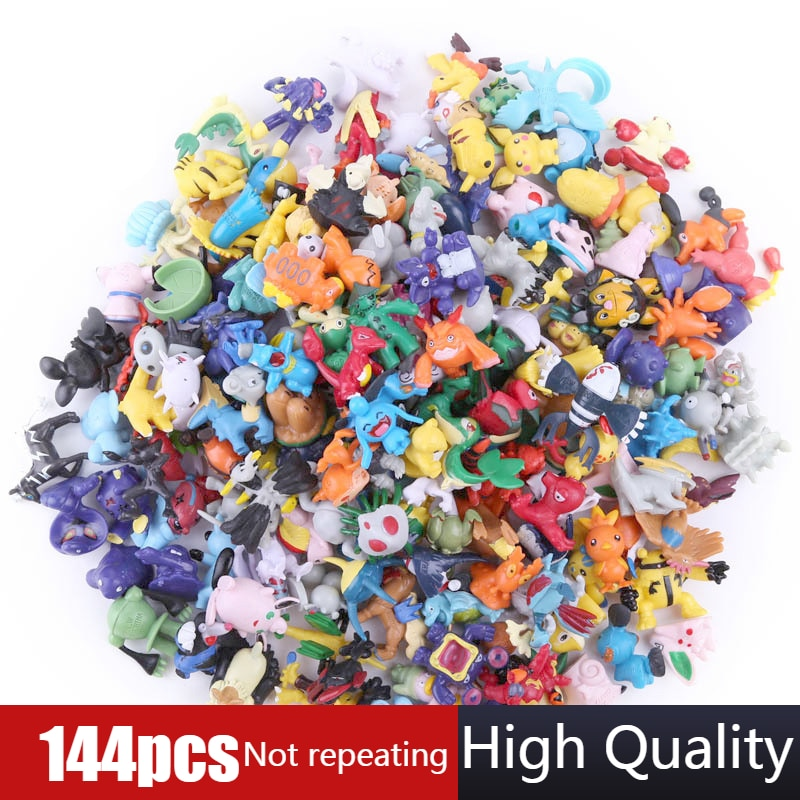 Фигурки покемонов 2,5 см-3 см, 144 различных стилей, 24 шт./упак., новые куклы, игрушки для коллекционных кукол покемонов