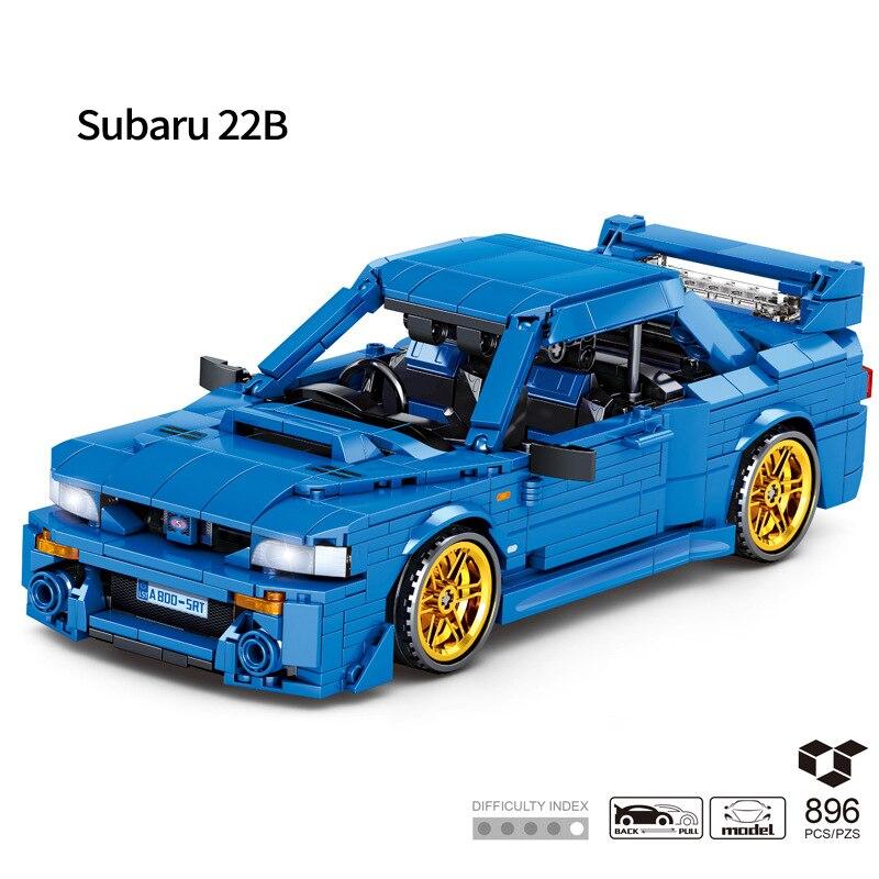 TECHINQUE الرياضة سيارة سوبارو امبريزا 22B Sti نموذج التراجع لغز تجميعها لعبة بناء لعبة المكعبات لصبي هدايا عيد ميلاد