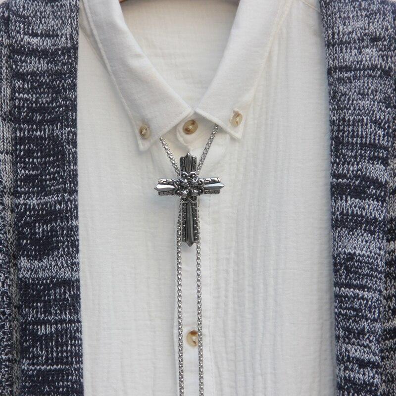Original design bolotie stainless steel bolo tie for men personality neck tie fashion accessory