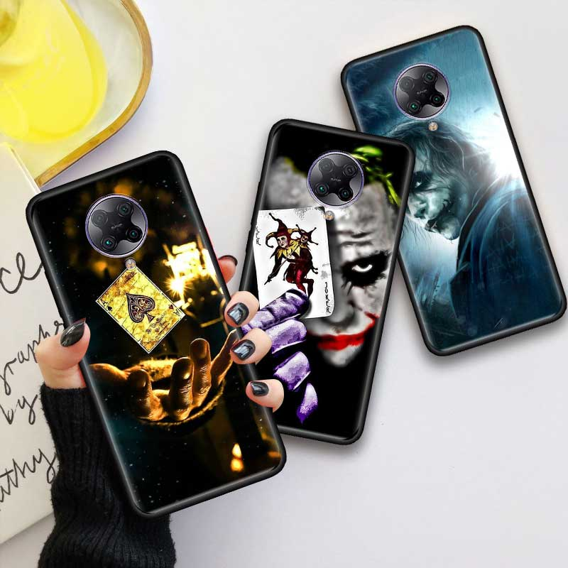 Negro Tpu Capa para Xiaomi Mi nota 10 9T Pro 5G Poco F2 X2 F1 CC9 9 SE A3 A2 Lite Fundas de casos Batman Joker