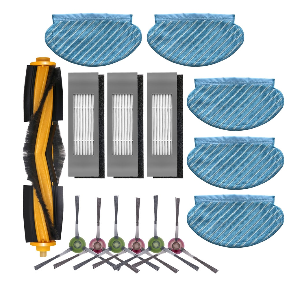 Filter Side Brush Mop Cloth Set for Ecovacs Deebot Ozmo 920 950 Vacuum Cleaner Parts replacement home accessories
