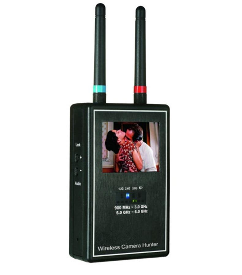 Mini Wireless Camera Hunter Full Band Video  Scanner Image Display Multi Lens Detector Full-range Anti-Candid