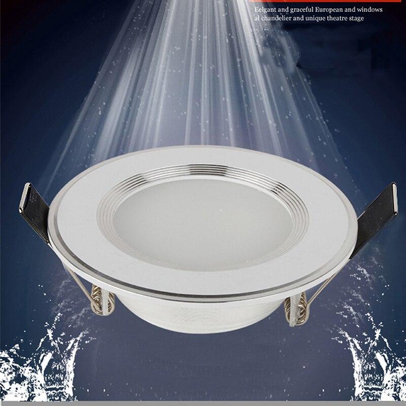 1 Uds regulable Downlight LED impermeable 220V 7W/9W/12W/15W/18W Bombilla LED foco empotrable LED para cuarto de baño